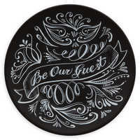Image of Be Our Guest Dessert Plate - Black # 1