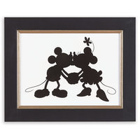 Mickey and Minnie Mouse Silhouette II Framed Giclée on Archival Paper by Ethan Allen