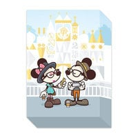 Mickey and Minnie Mouse ''Small World Selfies'' Giclée by Jerrod Maruyama - Miniature - Limited Edition