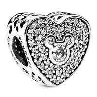 Image of Mickey and Minnie Mouse Heart Charm by PANDORA # 1
