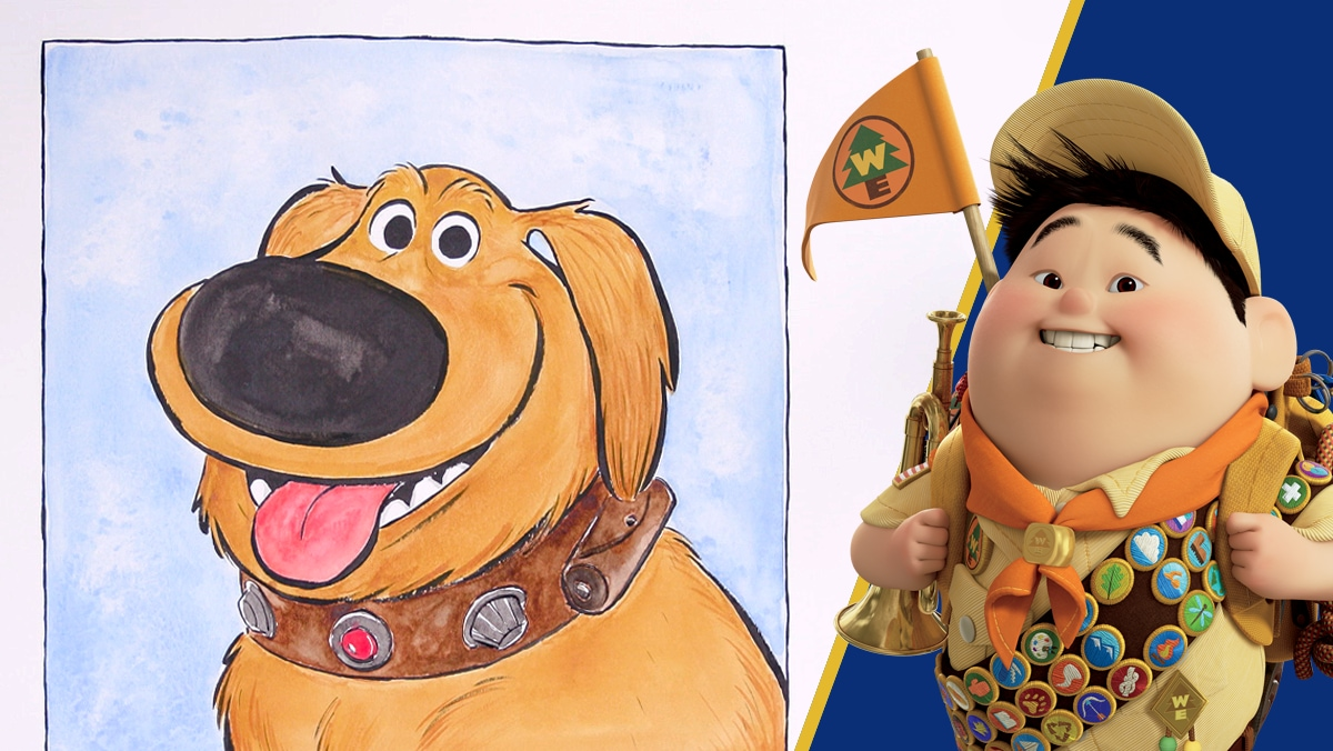 Watercolor Portrait of Dug From Up | Disney DIY by Disney Family