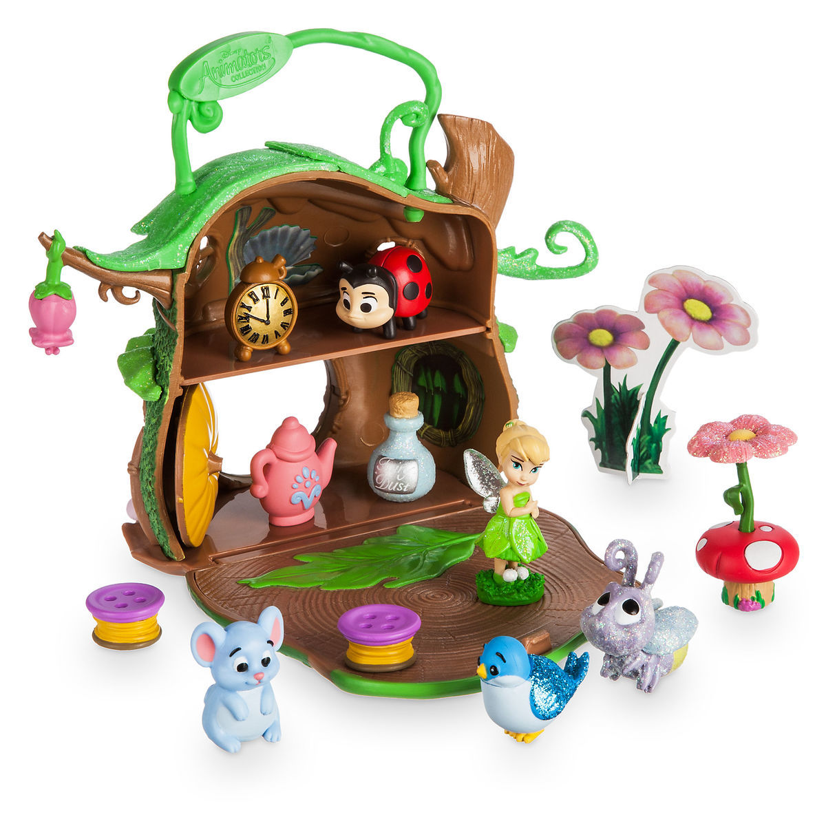 Product Image of Disney Animators  Collection Littles Tinker Bell Micro Doll  Play Set   1 da94943c50