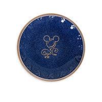 Mickey Mouse Icon Dessert Plate Set - Disney Dining Collection - Blue / Tan
