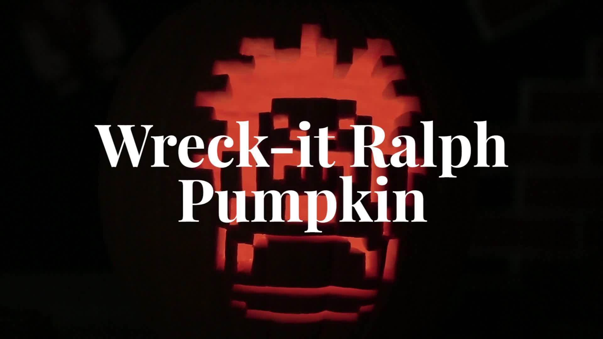 Wreck-It Ralph Pumpkin Carving | Disney Family DIY
