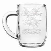 Tinker Bell Glass Mug by Arribas - Personalizable