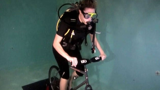 Underwater Scuba Cycling