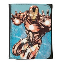 Image of Iron Man Leather Wallet for Kids - Customizable # 1