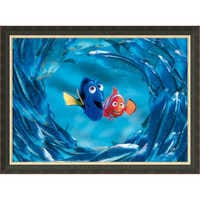Image of Finding Nemo ''The Moonfish entertain Marlin and Dory'' Giclé # 7
