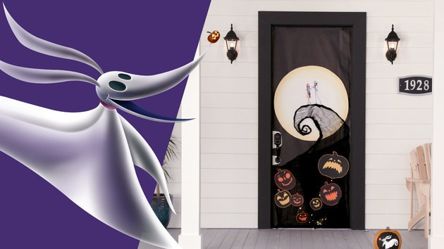 The Nightmare Before Christmas Door Décor | Disney DIY by Disney Family