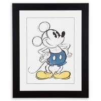 Mickey Mouse Sketch Framed Giclée on Archival Paper by Ethan Allen
