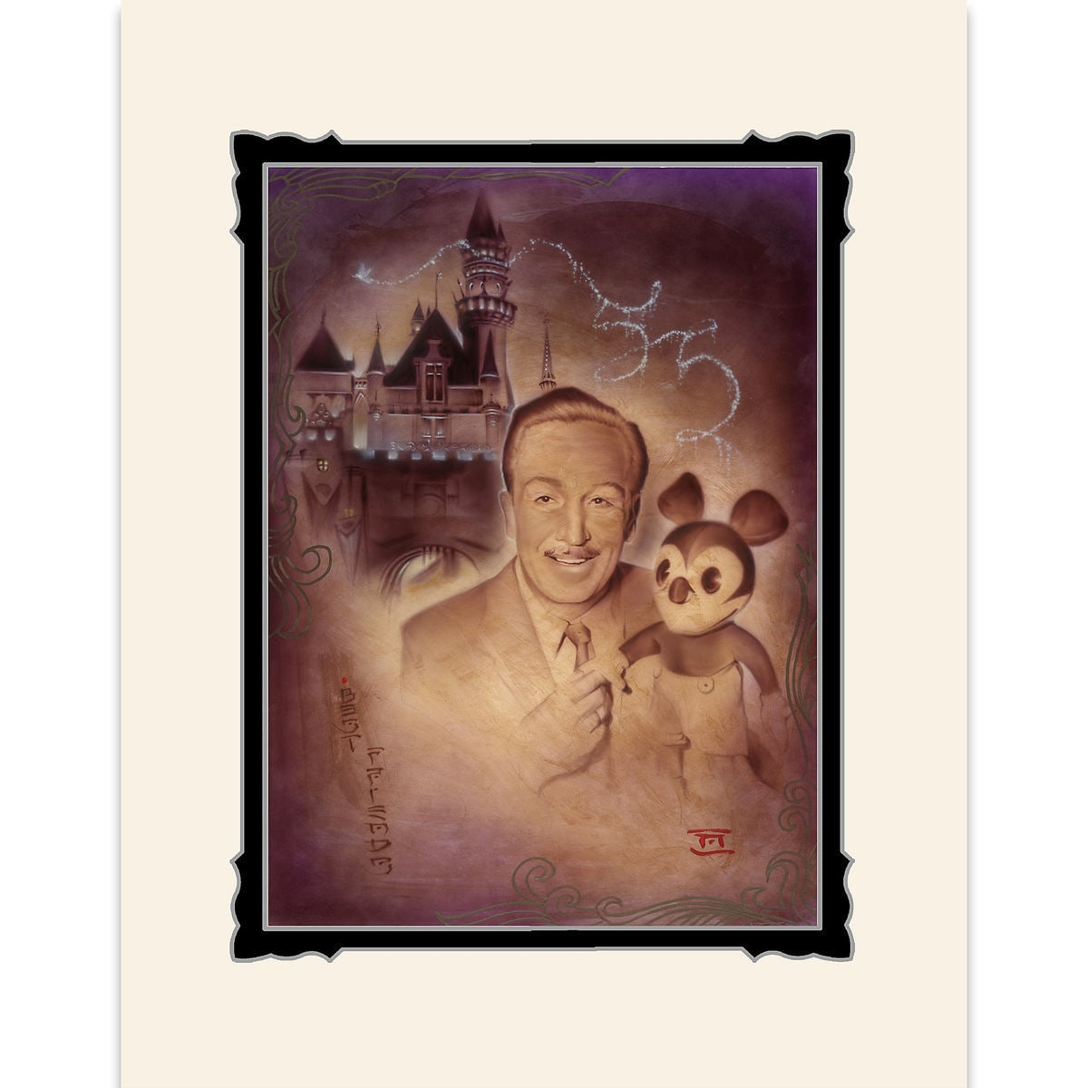 Walt Disney And Mickey Mouse Walt And Mickey 55th Deluxe Print