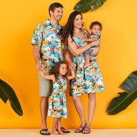 Image of Mickey Mouse and Friends Hawaiian Dress for Girls # 2