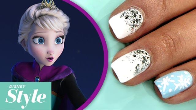 Frozen inspired nail art disney style disney video video thumbnail for frozen inspired nail art disney style prinsesfo Gallery