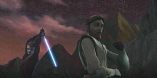 Obi-Wan, Anakin and Ahsoka Stand Ready