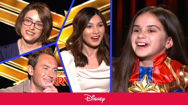 Captain Marvel Cast Teaches A 10-Year Old About The '90s | Disney