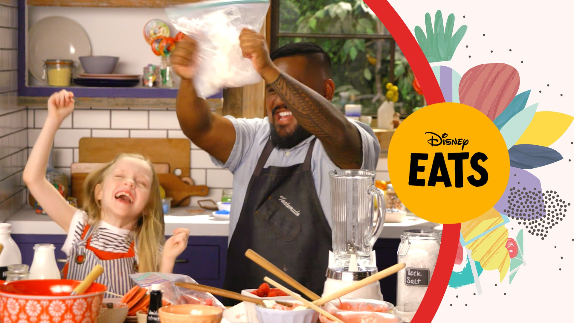 Chef Sheldon Simeon and Stella Mix Up A Crazy Milkshake | Kitchen Little: Disney Eats Edition