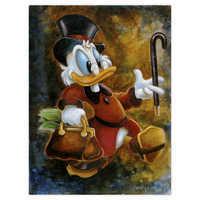 Image of Scrooge McDuck ''Scrooge Treasure'' Giclée by Darren Wilson # 1