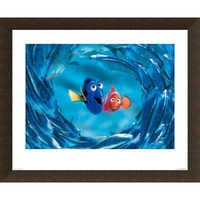 Image of Finding Nemo ''The Moonfish entertain Marlin and Dory'' Giclé # 5