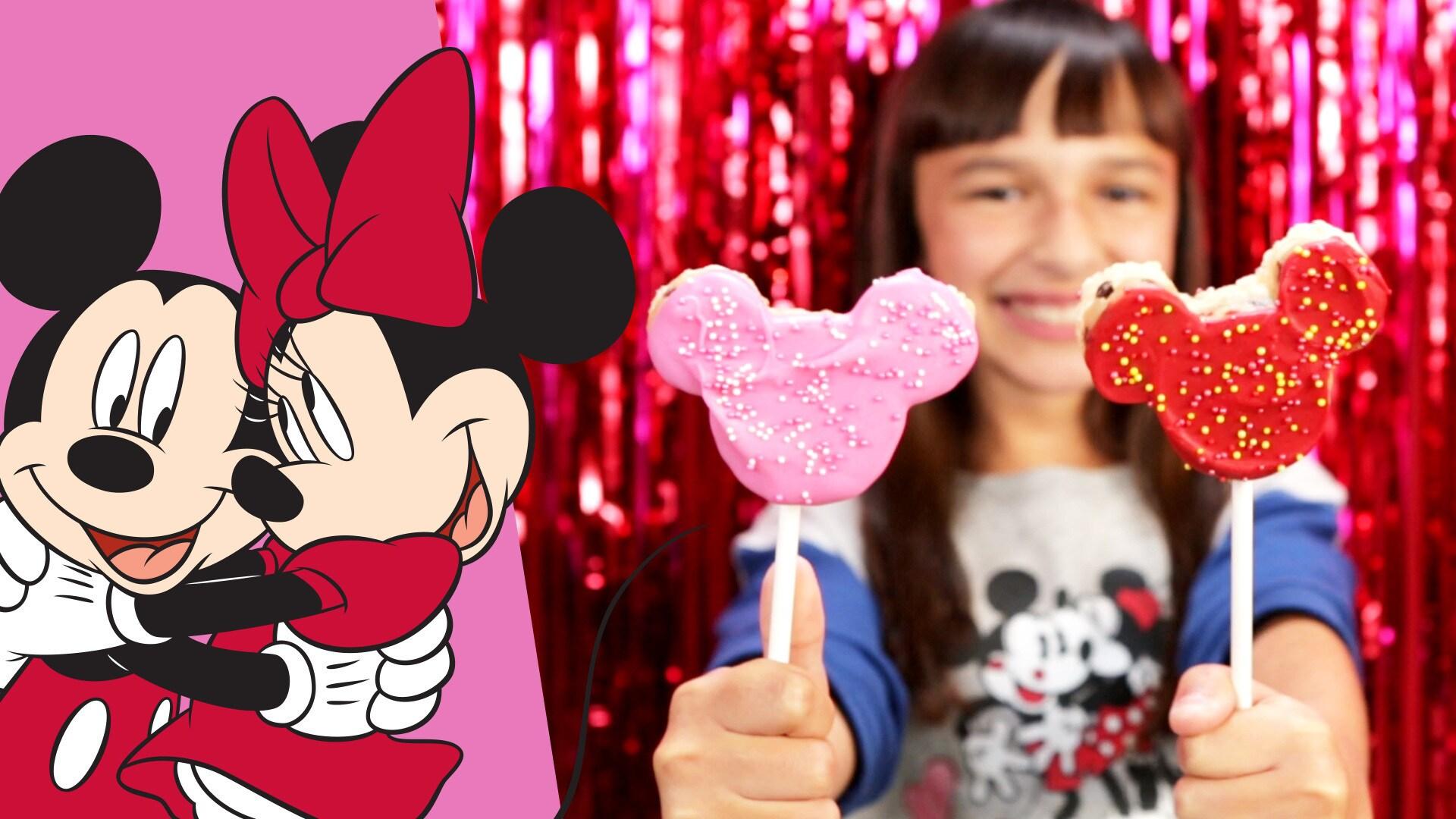 Mickey & Minnie Cookie Dough Crispy Pops | Dishes by Disney by Disney Family