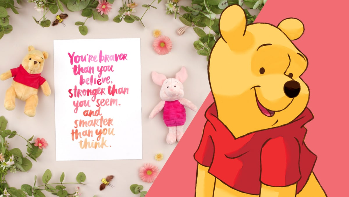 Winnie the Pooh Brush Lettering | Disney Family