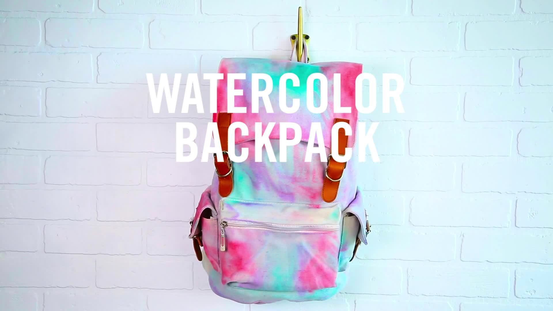 Watercolor Backpack | Summer Survival Hacks