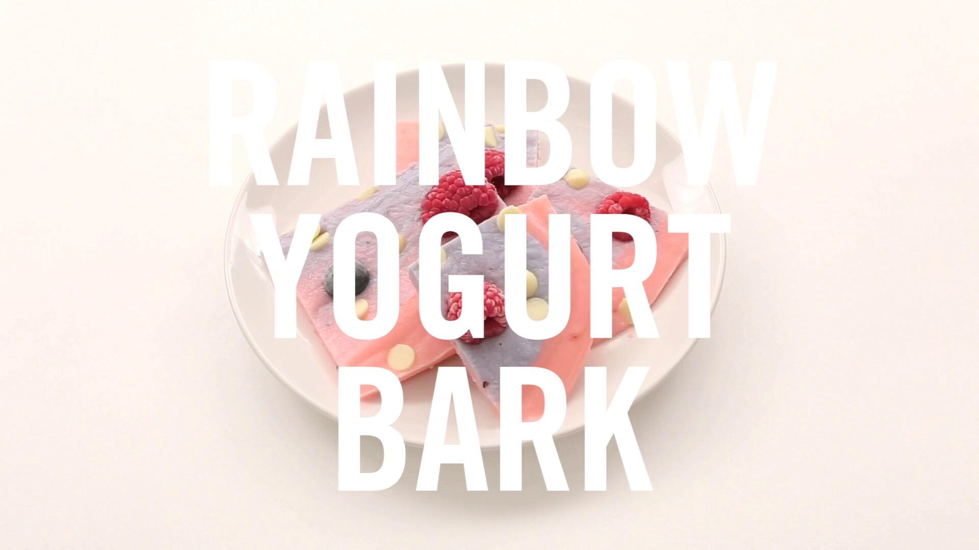 Rainbow Yogurt Bark | Babble Eats