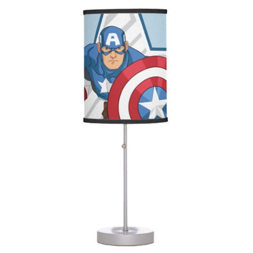Captain America Lamp for Kids - Customizable