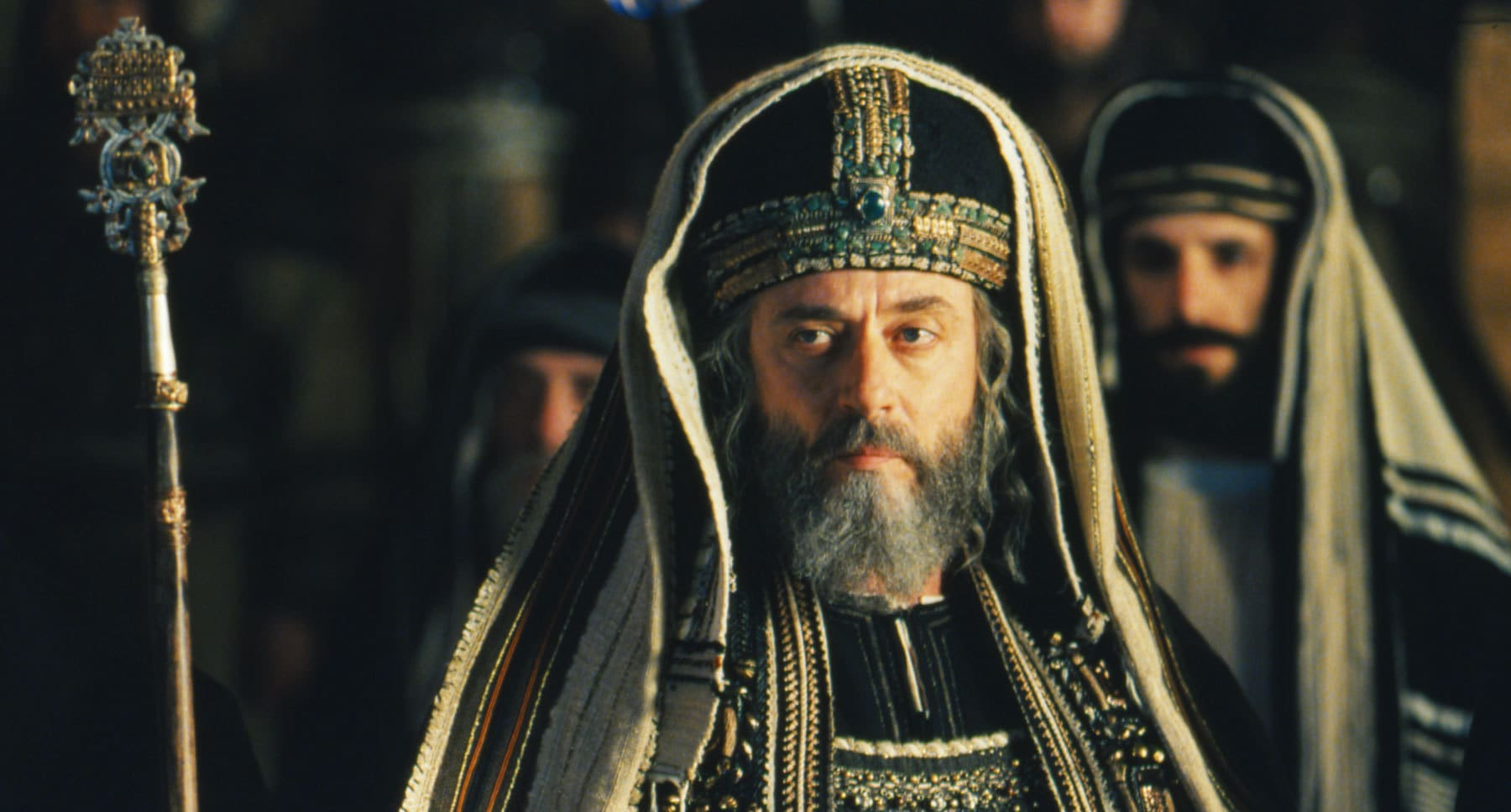 "Mattia Sbragia as Ciaphas in ""The Passion of the Christ"""