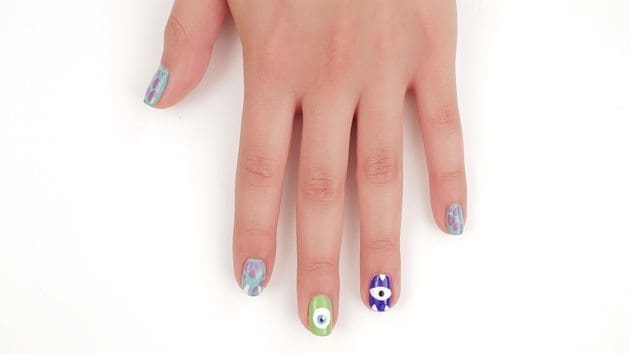Nail art monsters inc disney style disney lol nail art monsters inc disney style prinsesfo Image collections
