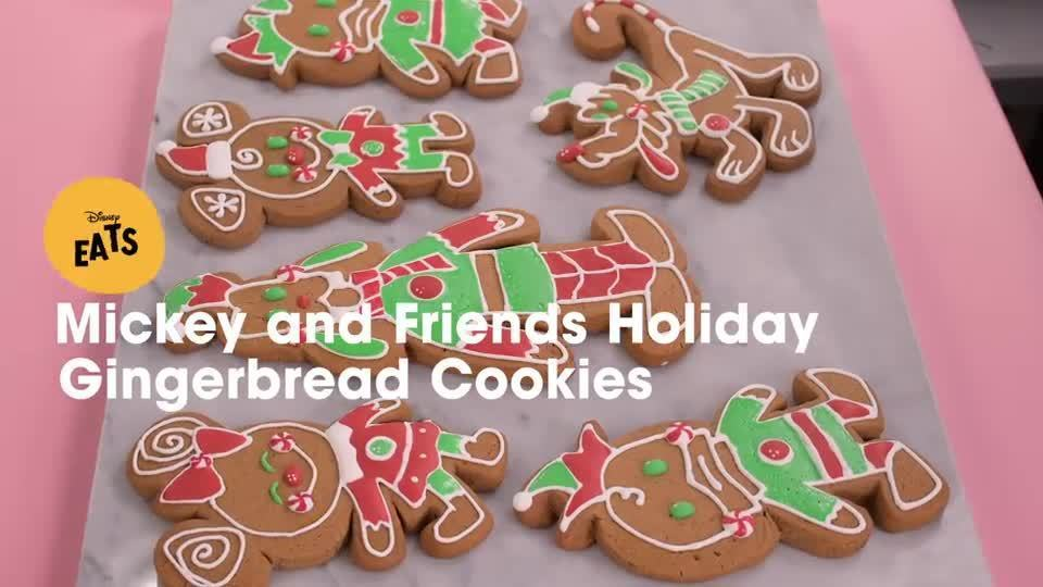 Mickey and Friends Holiday Gingerbread Cookies | Disney Eats