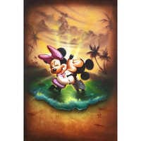 Image of Mickey Mouse and Minnie ''Life With You Is a Dream'' Giclée by Noah # 1