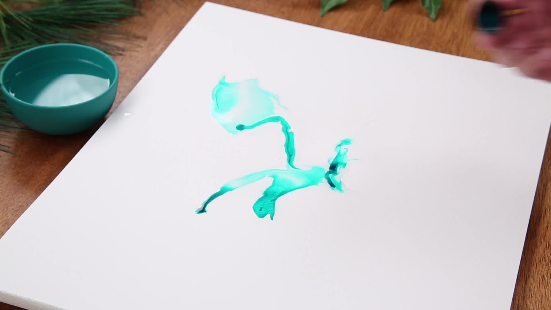 Water and Ink Painting with Pete's Dragon | Disney DIY