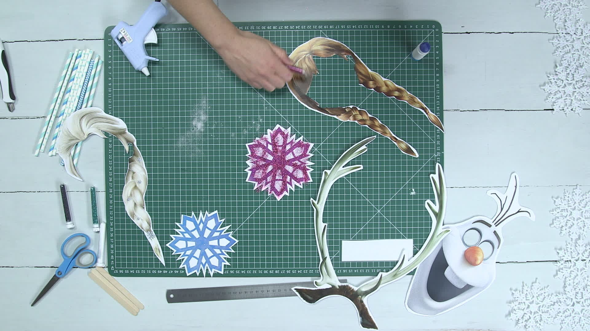 Frozen Photo Booth Props
