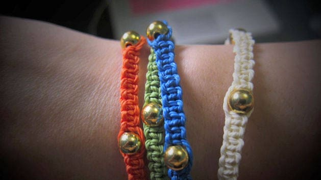 Square Knot DIY Bracelets Tutorial