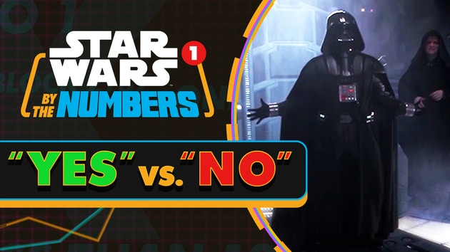 How Many Times Is 'Yes' and 'No' Said In Star Wars? | Star Wars By The Numbers