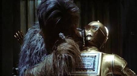 Chewbacca Repairs Threepio