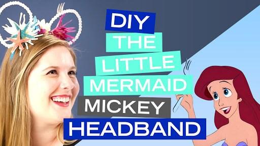 DIY The Little Mermaid Mickey Headband