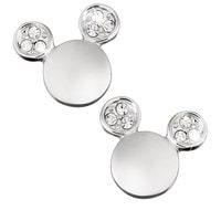 Mickey Mouse Icon Crystal Ear Earrings by Arribas