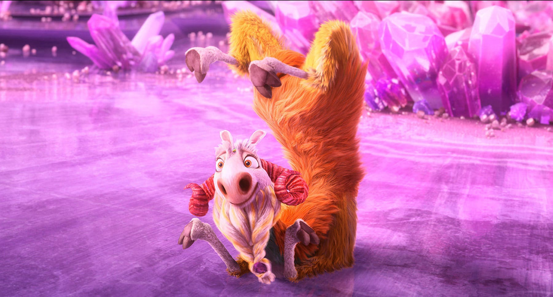 "Actor Jesse Tyler Ferguson as Shangri Llama in the movie ""Ice Age: Collision Course"""