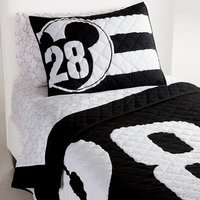 Image of Mickey Mouse 28 Varsity Quilt by Ethan Allen # 1