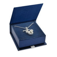 Mickey Mouse Sterling Silver Lock Necklace - Disney Designer Jewelry Collection