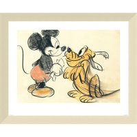 ''Pluto Begging to Mickey'' Giclée