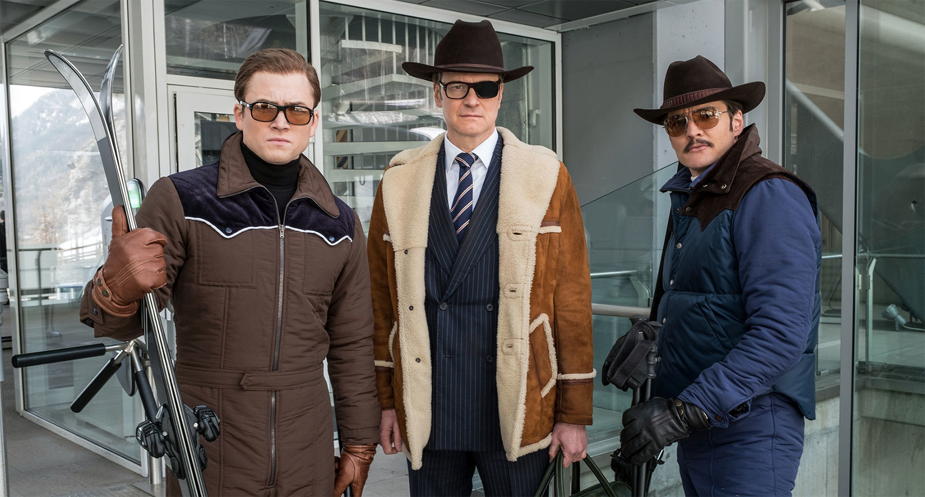 "Colin Firth, Pedro Pascal, and Taron Egerton in ""Kingsman: The Golden Circle"""