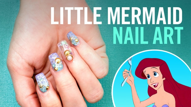 Little Mermaid Aquarium Nails | TIPS | Disney Style