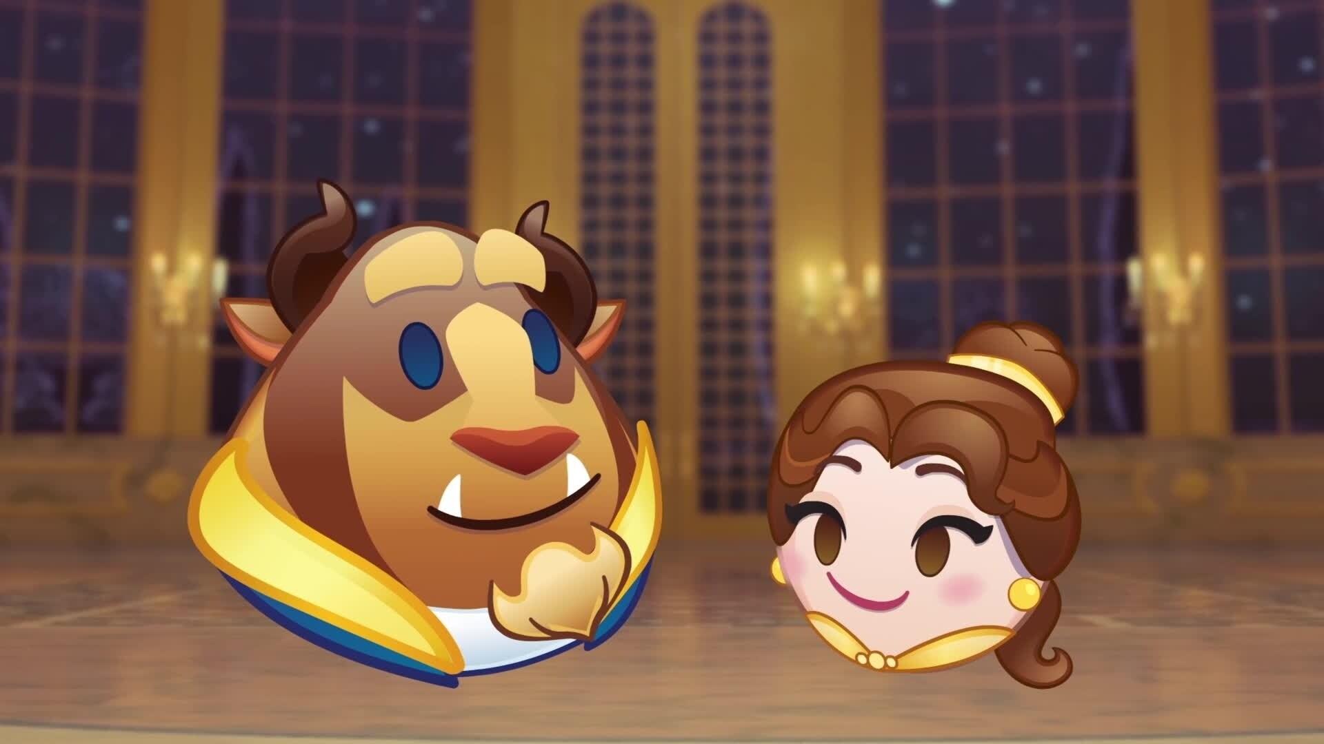 Belle en het Beest verteld door emoji