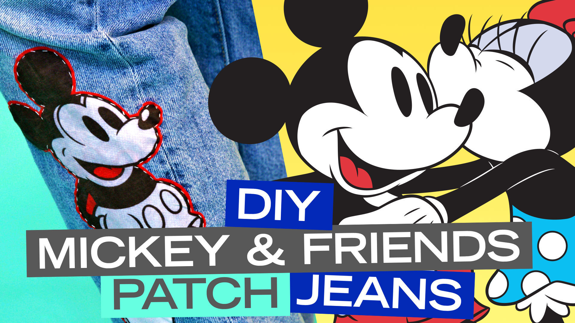 DIY Mickey & Friends Patch Jeans | Disney Style