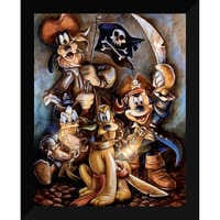 Image of Mickey Mouse and Friends ''Motley Crew'' Giclée by Darren Wilson # 6