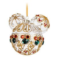 Image of Mickey Mouse Icon Glass Ornament - Bejeweled # 2
