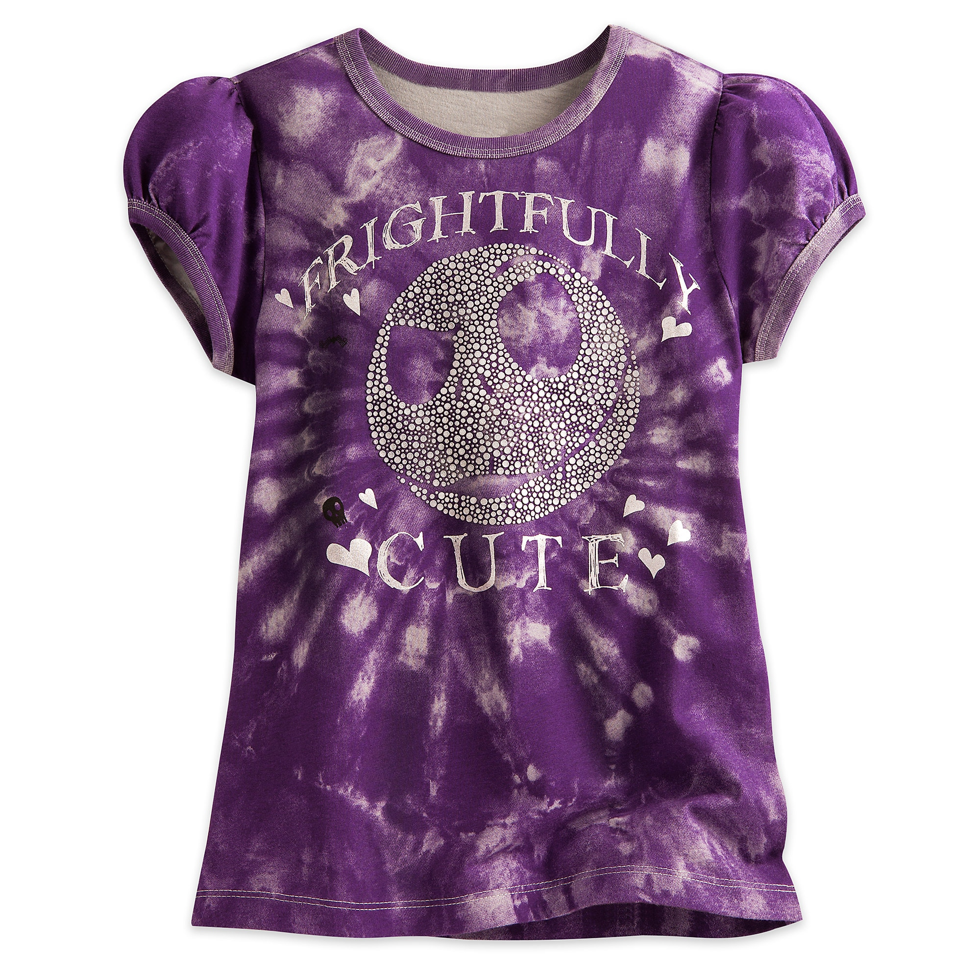 Jack Skellington Tie-Dye Tee for Girls
