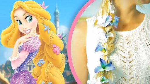 Rapunzel DIY Hair Ribbon - A Disney Exclusive from Evelina Barry